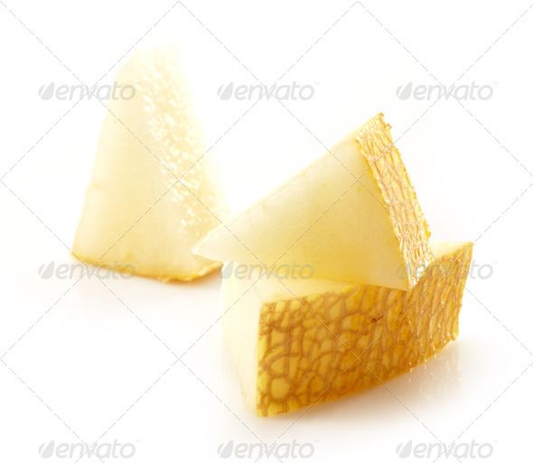melon pieces - Stock Photo - Images