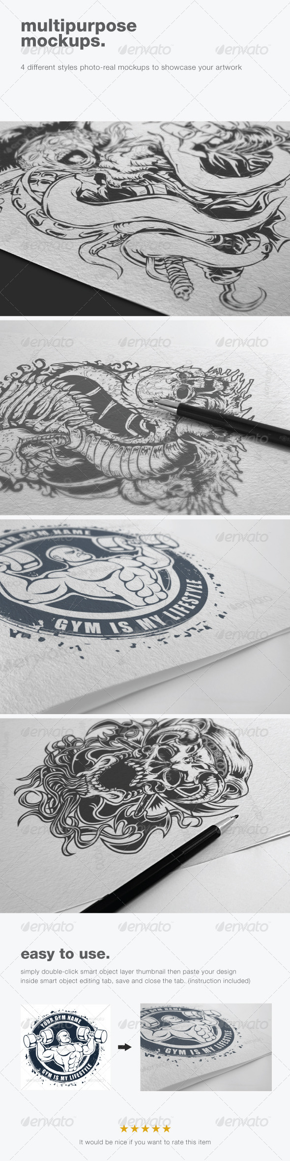 Multipurpose Mockups - Miscellaneous Print