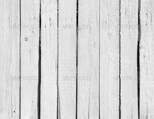 Weathered white wood - Stock Photo - Images