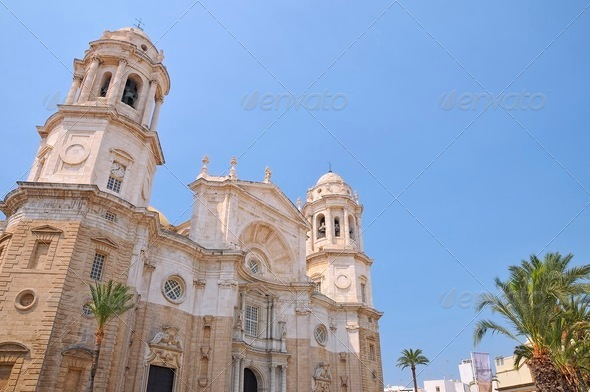 Cadiz cathedral. - Stock Photo - Images