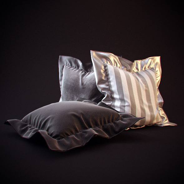 25 Realistic flanged Pillows - 3DOcean Item for Sale