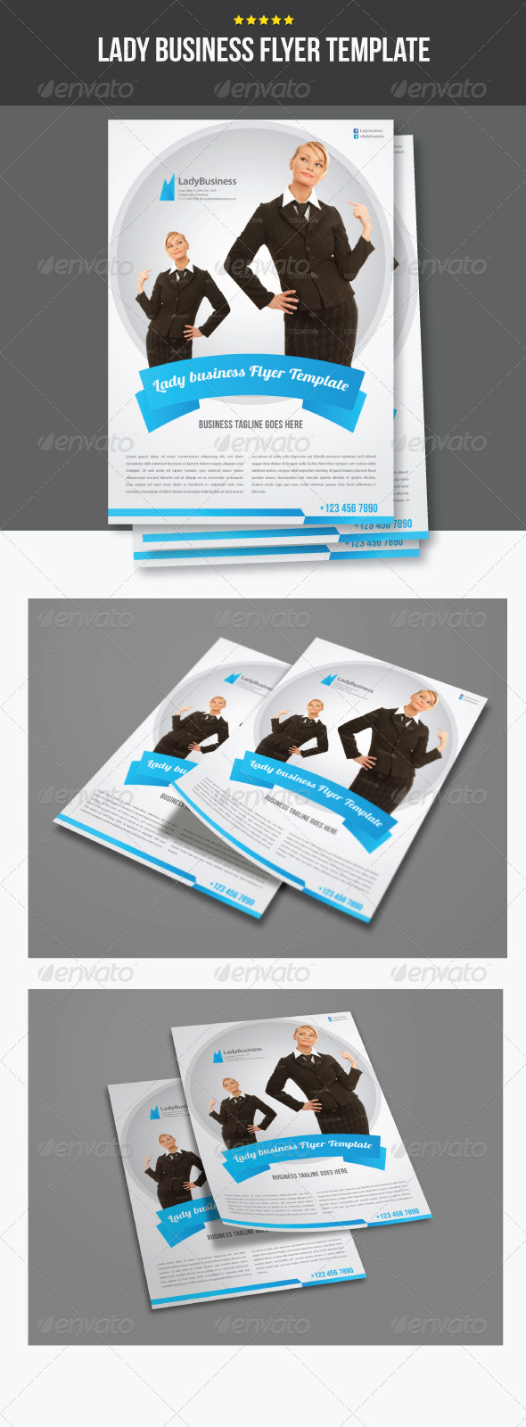 Lady Business Flyer Template - Corporate Flyers