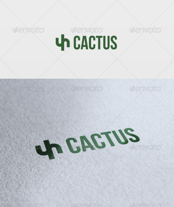 Cactus Logo - Vector Abstract