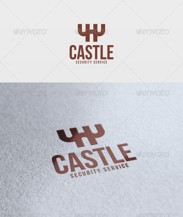 Castle Logo - Vector Abstract