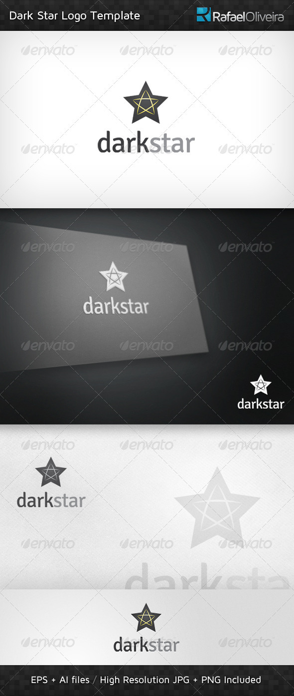 Dark Star Logo Template - Abstract Logo Templates