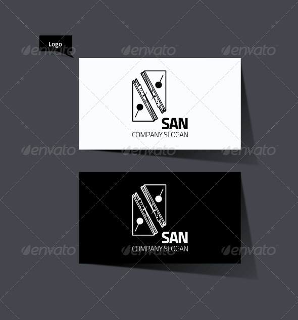 Triangle Sandrwich Logo - Food Logo Templates