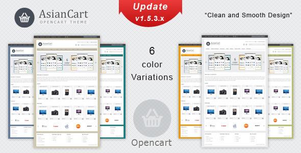 ThemeForest AsianCart Premium Opencart Theme 897045