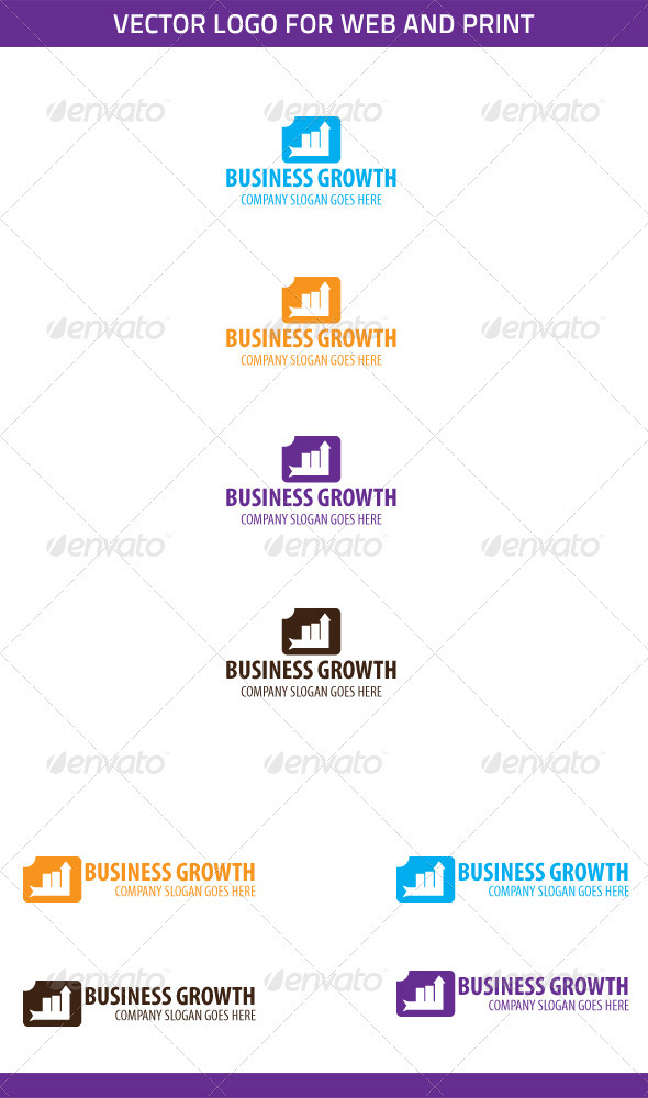 Business Growth Logo Template - Symbols Logo Templates