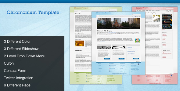 Chromonium Business Template - Preview