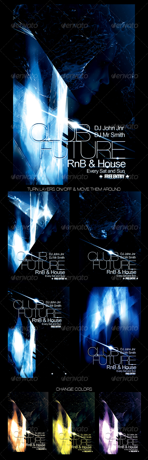 Futuristic Club Flyer - Clubs & Parties Events