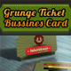 Grunge Retro Ticket Bussines Card - GraphicRiver Item for Sale