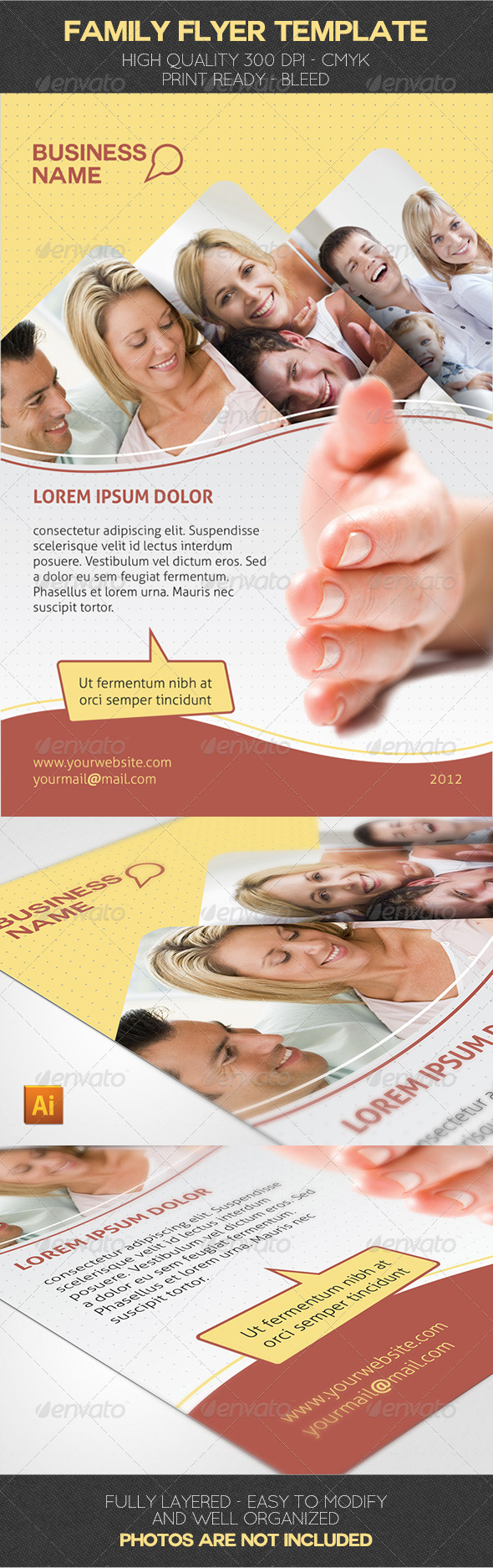 Family Flyer Template - Corporate Flyers