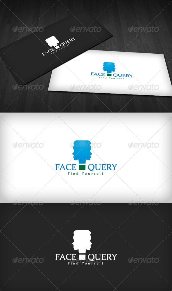 Face Query Logo - Humans Logo Templates