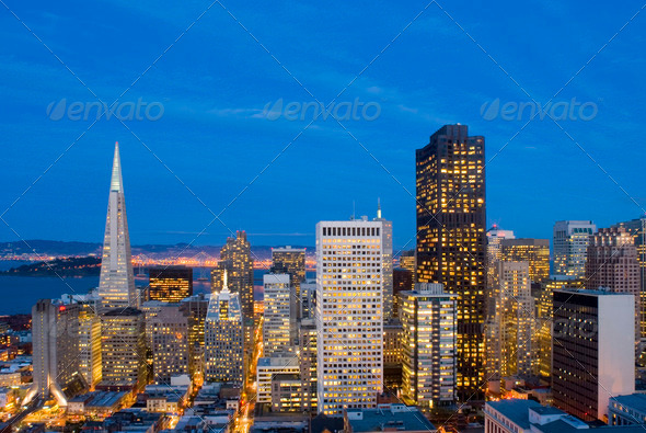 San Francisco after Sunset - Stock Photo - Images
