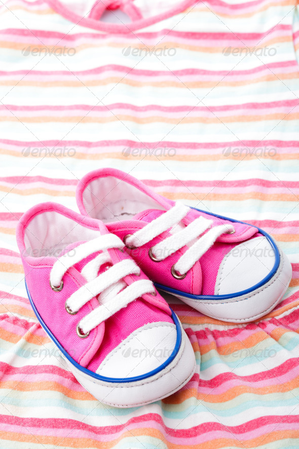 Pink baby shoes - Stock Photo - Images