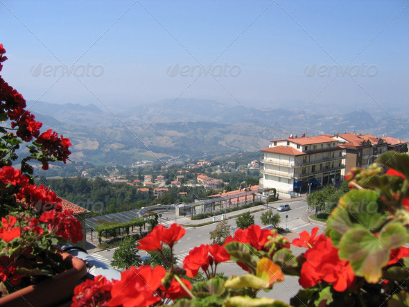 View to Republic of San Marino - Stock Photo - Images