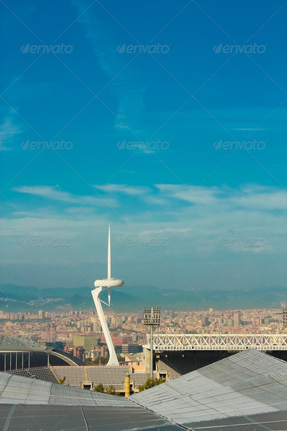 Cityscape of Barcelona - Stock Photo - Images