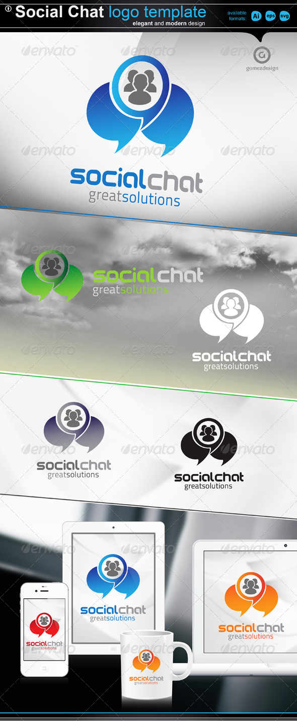Cloud Chat Logo - Abstract Logo Templates