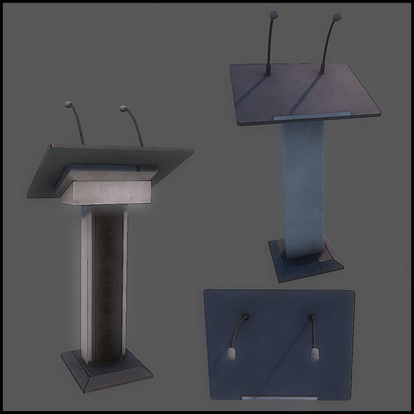 Generic Lectern - 3DOcean Item for Sale