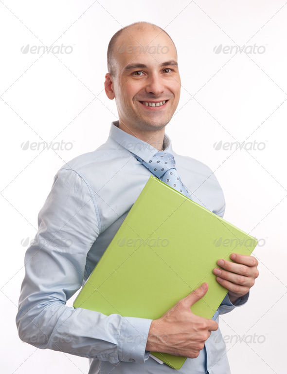 smiling business man - Stock Photo - Images