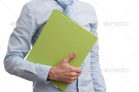 businessman with a folder - Stock Photo - Images
