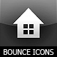 Bounce Series Icons Set -  Black Square - ActiveDen Item for Sale