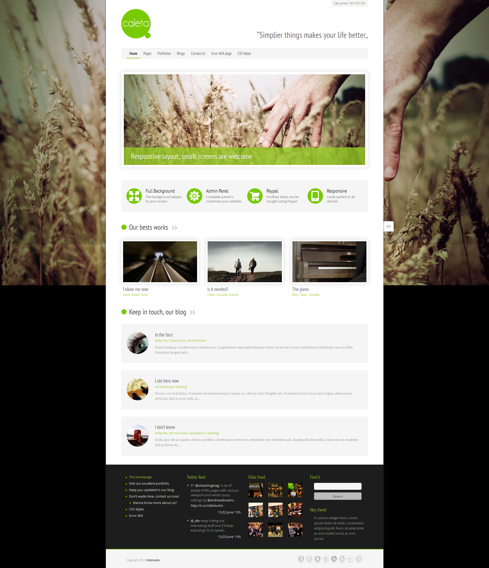 Caleta Responsive Portfolio &amp; Photography