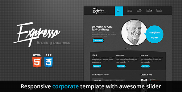 Expresso - Premium Responsive HTML5 Template - Corporate Site Templates
