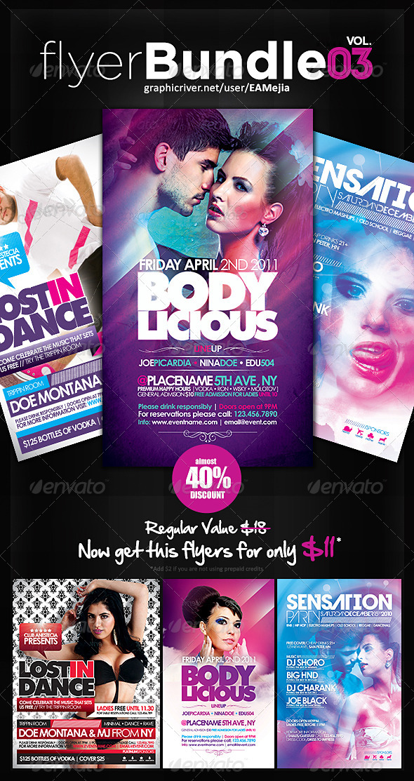 Flyer Bundle Vol. 3 - Events Flyers