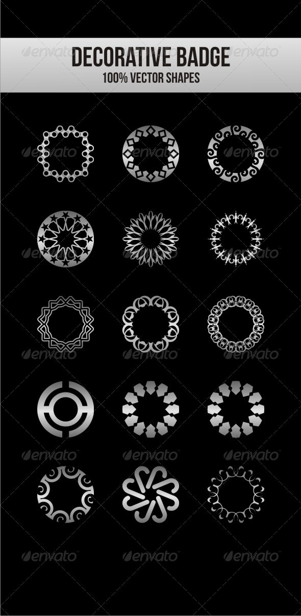 Decorative Badges - Decorative Vectors