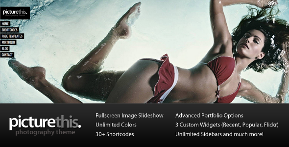 PictureThis - Fullscreen Portfolio WordPress Theme - Photography Creative