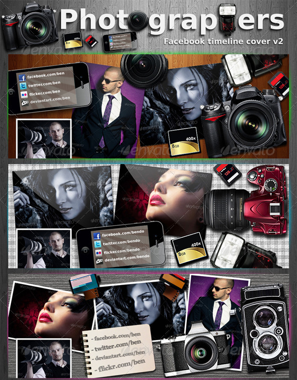 GraphicRiver Photography Facebook Timeline Cover V2 2758557