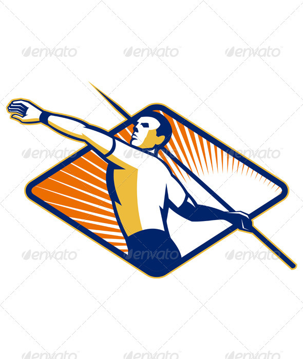 Athlete with Javelin Throwing - Sports/Activity Conceptual