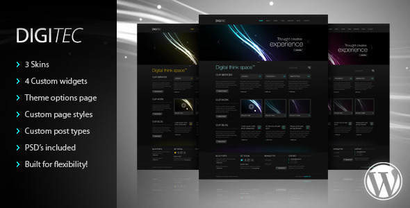 DigiTec WordPress Theme - Creative WordPress