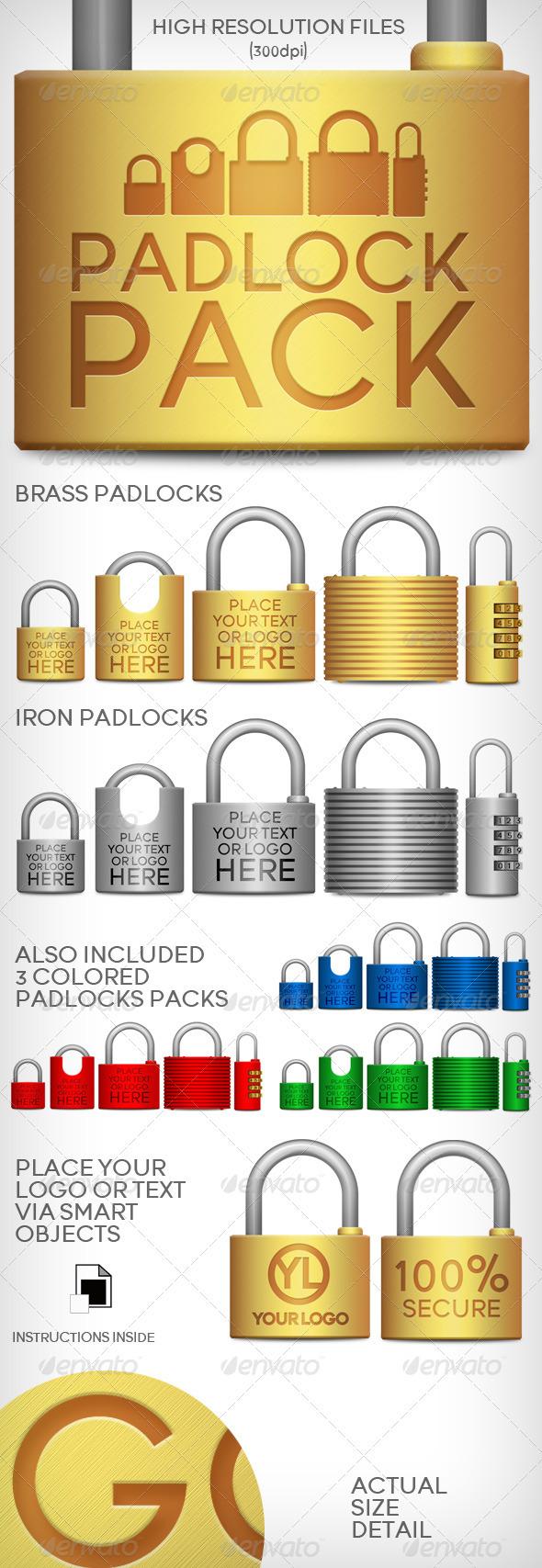 GraphicRiver Padlocks Pack 2761855