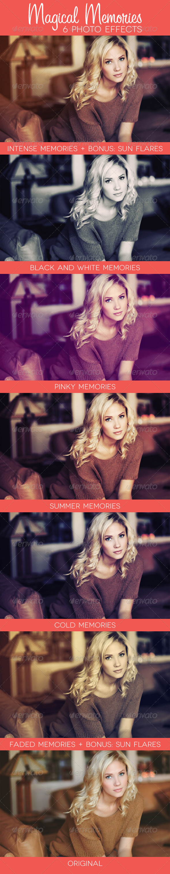 Magical Memories 6 Premium Photo Effects GraphicRiver - Add-ons -  Photoshop  Actions  Photo Effects 2762115