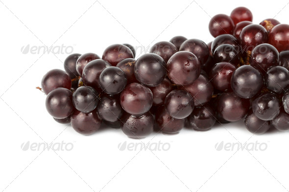 Wet grapes isolated on white - Stock Photo - Images