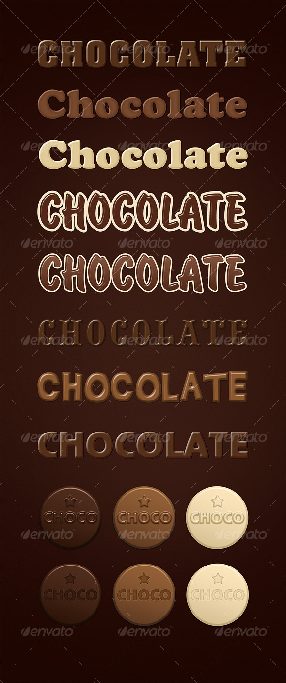 Chocolate Layer Styles - Text Effects Styles
