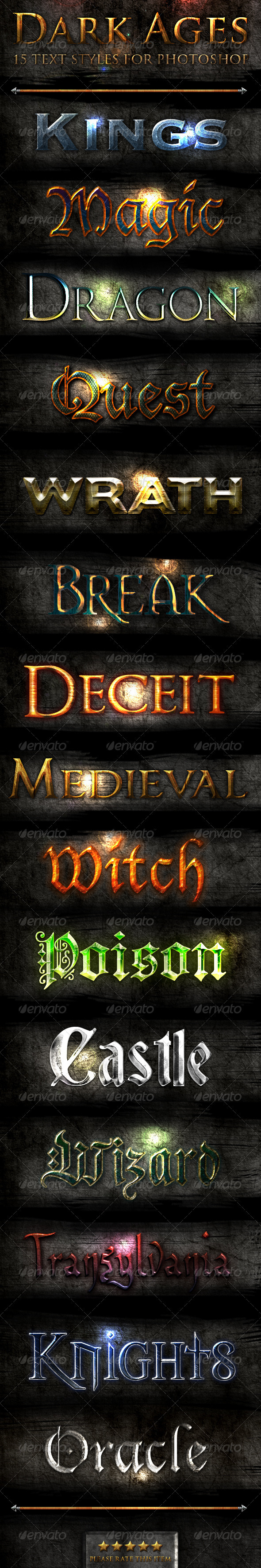 Dark Ages - Photoshop Text Styles - Text Effects Styles