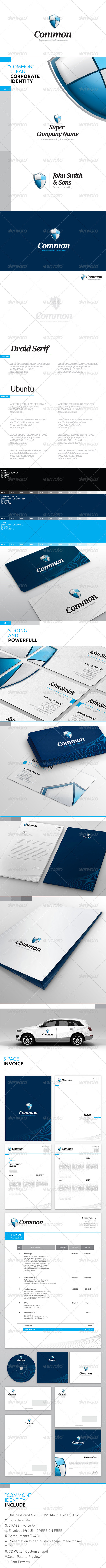 "MASTER package ""Shield"" - Corporate ID - Corporate Business Cards"