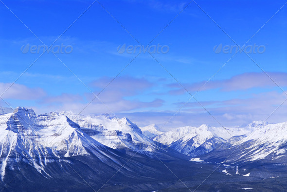 Winter Mountains - Stock Photo - Images