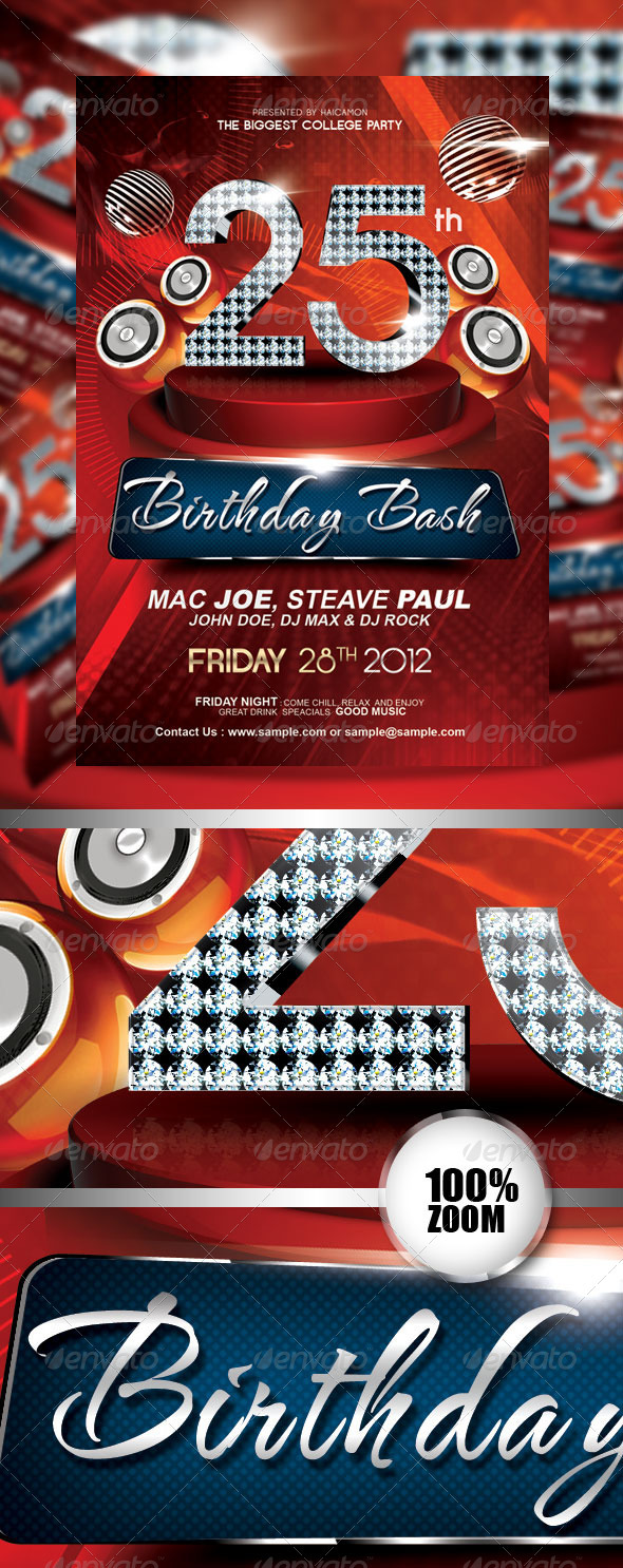 Birthday Invitation  Flyer Vol_3 - Miscellaneous Events