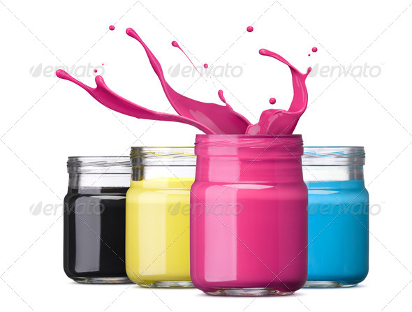 cmyk ink - Stock Photo - Images