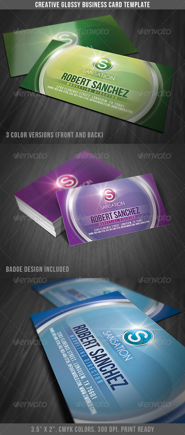Creative Glossy Business Card - Creative Business Cards