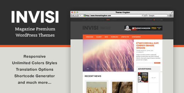 Invisi - Responsive News WordPress Theme