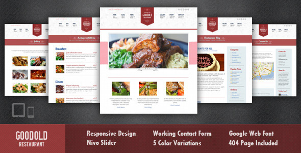 Goodold Restaurant - HTML Template - Restaurants & Cafes Entertainment