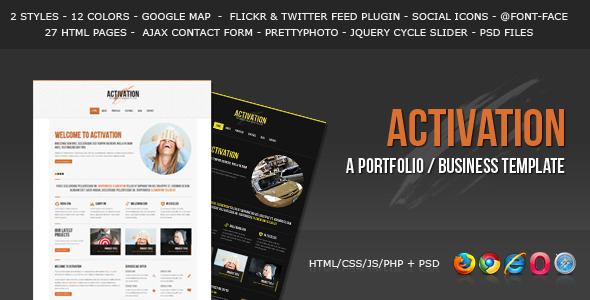 ThemeForest Activation a Business Portfolio Template 2753136