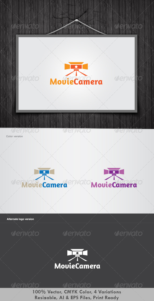 Movie Camera Logo - Objects Logo Templates