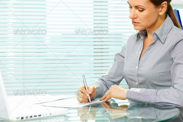Signing documents - Stock Photo - Images