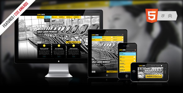 Olimpia Responsive Fullscreen Fitness Center